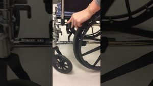 locking of wheelchair